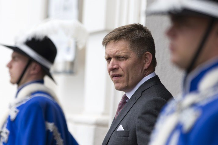 Slovakia's Prime minister Robert Fico waits ahead of a meeting of the Visegrad Group (Czech Republic, Hungary, Poland and Slovakia ) and France on June 19, 2015 at Bratislava castle. AFP PHOTO / KENZO TRIBOUILLARD (Photo credit should read KENZO TRIBOUILLARD/AFP/Getty Images)